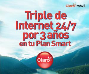 Triple de Internet 24/7 por 3 años en tu Plan Smart